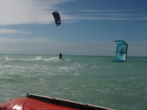 Kiteboarding in Key West, Florida (Snipe Key)