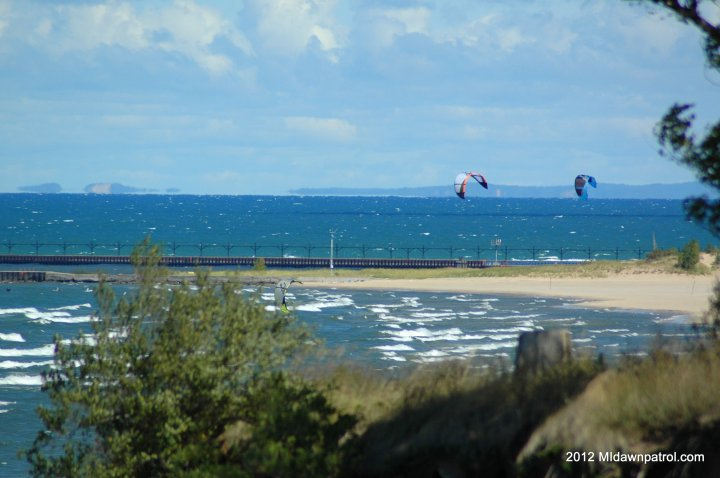 North wind in Manistee