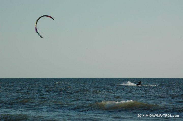 Kiteboarding at Kuow