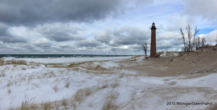 Little Sable Point Lighthouse in Winter
