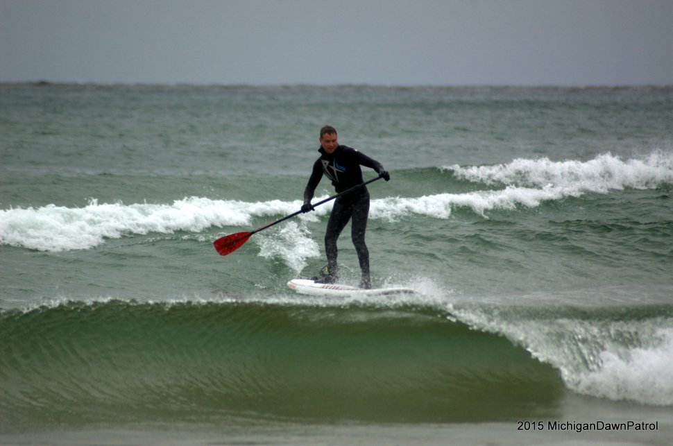 Actually surfing for the first time really