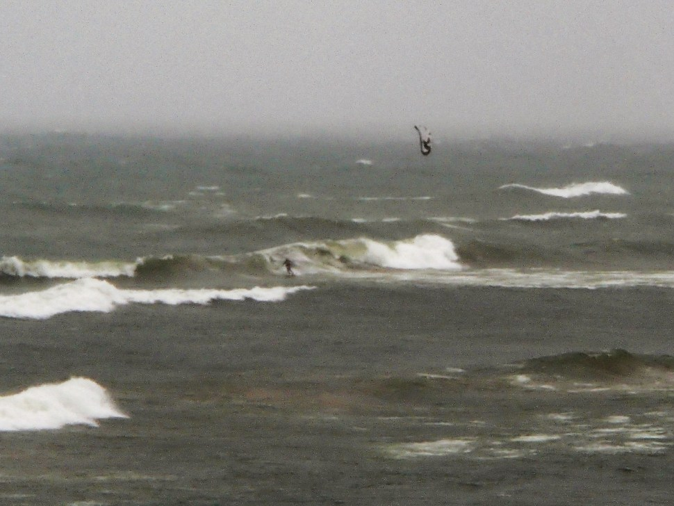 Das Machine shredding some waves on a downwinder during one of the windiest days this fall