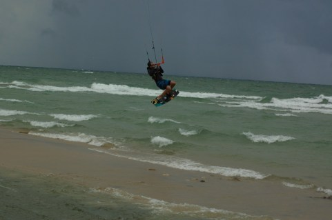 Jeff jumping to the big Lake