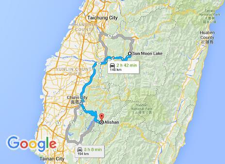 Google map Alishan
