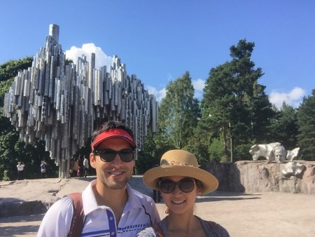 Sibelius Monument, that floating head is staring at us