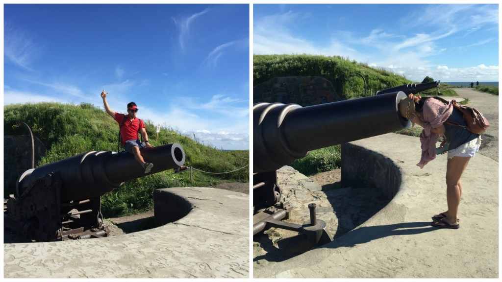 Playing with cannons on