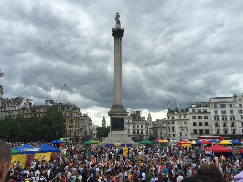 Hare Krishna Party at Trafalgar Square