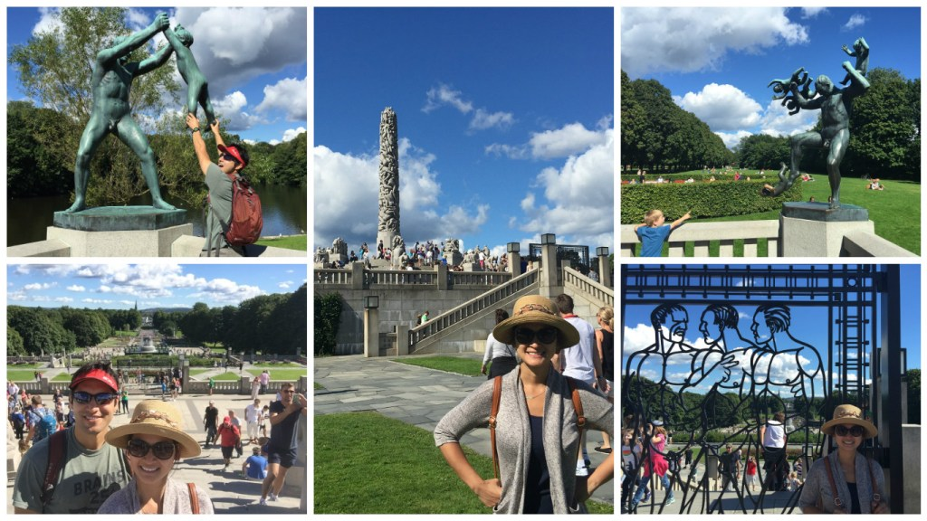 Various statues and sights around Vigeland Park