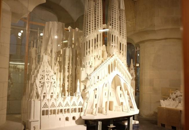 Model of the Sagrada Familia in the Museum