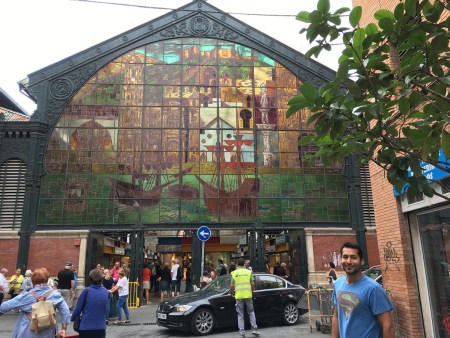 Malaga Mercado Central Altarazanas beautiful stain-glass