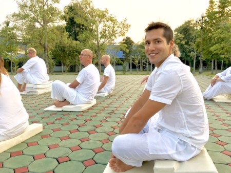 outdoor meditation session
