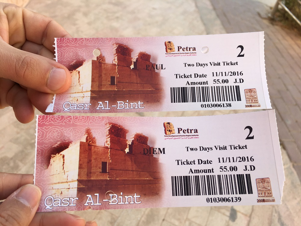 Petra 2-day tickets