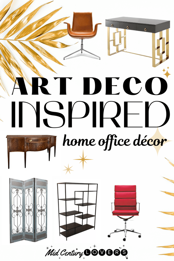 Our favorite Art Deco home office decor & top ten pieces to look for when designing a stylish, functional workspace.