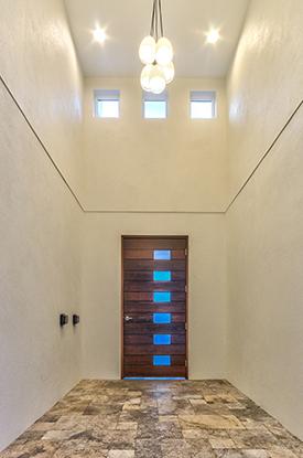 mid century modern tall ceilings