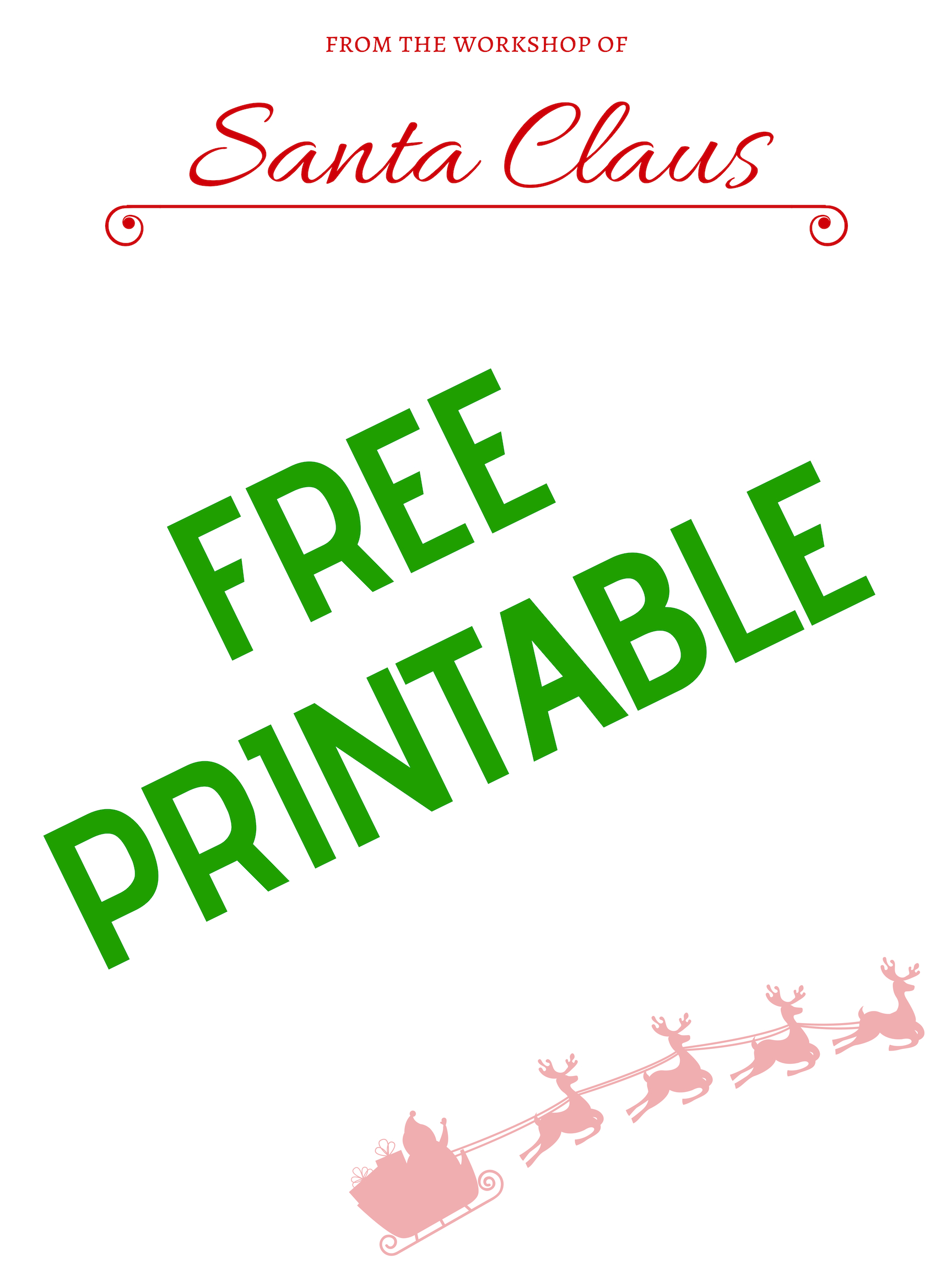 It is a graphic of Free Printable Santa Stationary throughout kid