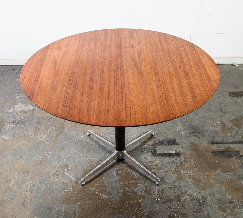 mid century danish modern cocktail table coffee dining adjustable height teak vg wilhelm renz j m thomas convertible