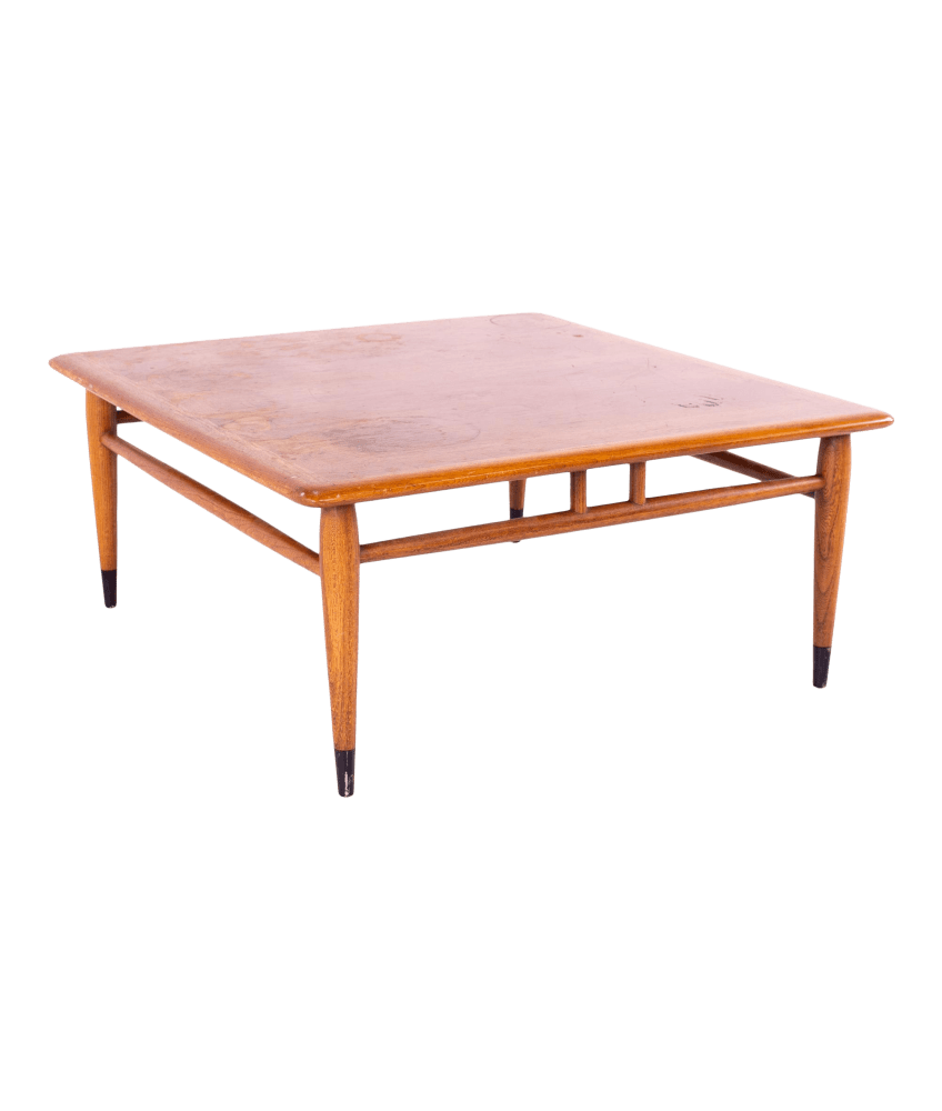 andre bus for lane acclaim mid century square walnut and oak dovetail side end coffee table