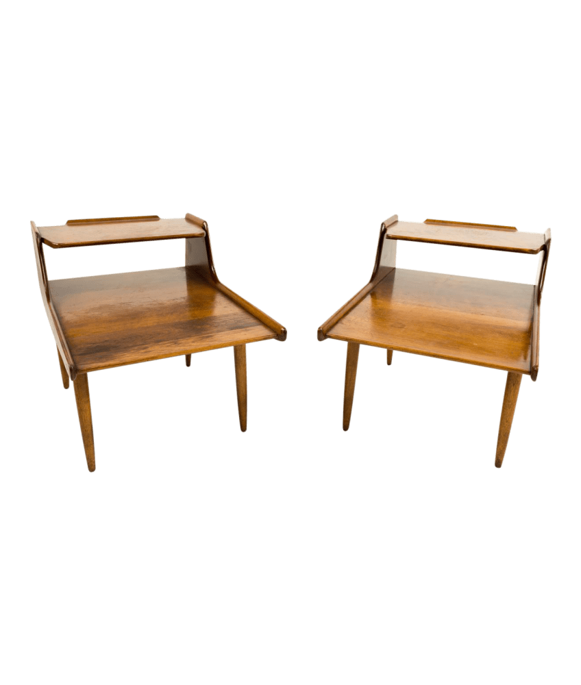 russel wright for conant ball mid century modern side end tables
