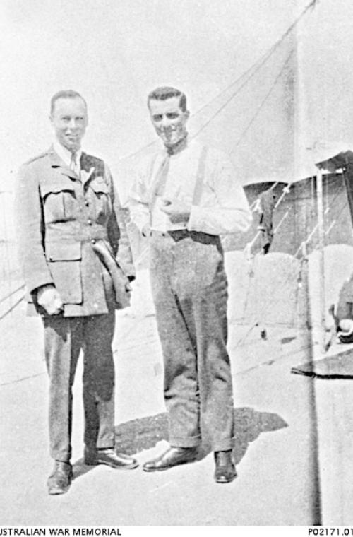Major George Douglas, Dental Corps and Captain Alban Albury Maloney, Australian Army Medical Corps, 1918.