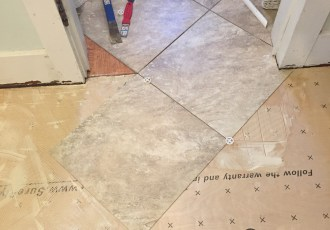 How to Lay and Grout Laminate Tile