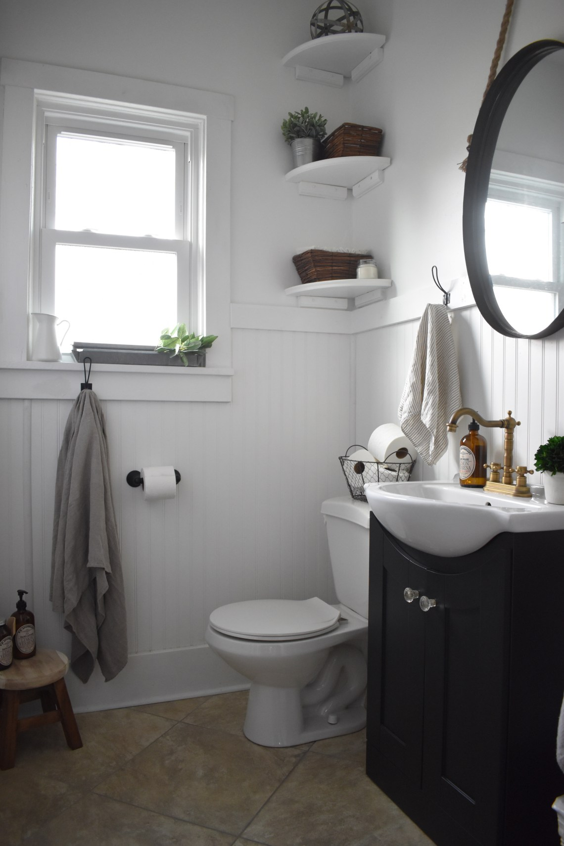 Wall Mount Farmhouse Sink Bathroom Renovation