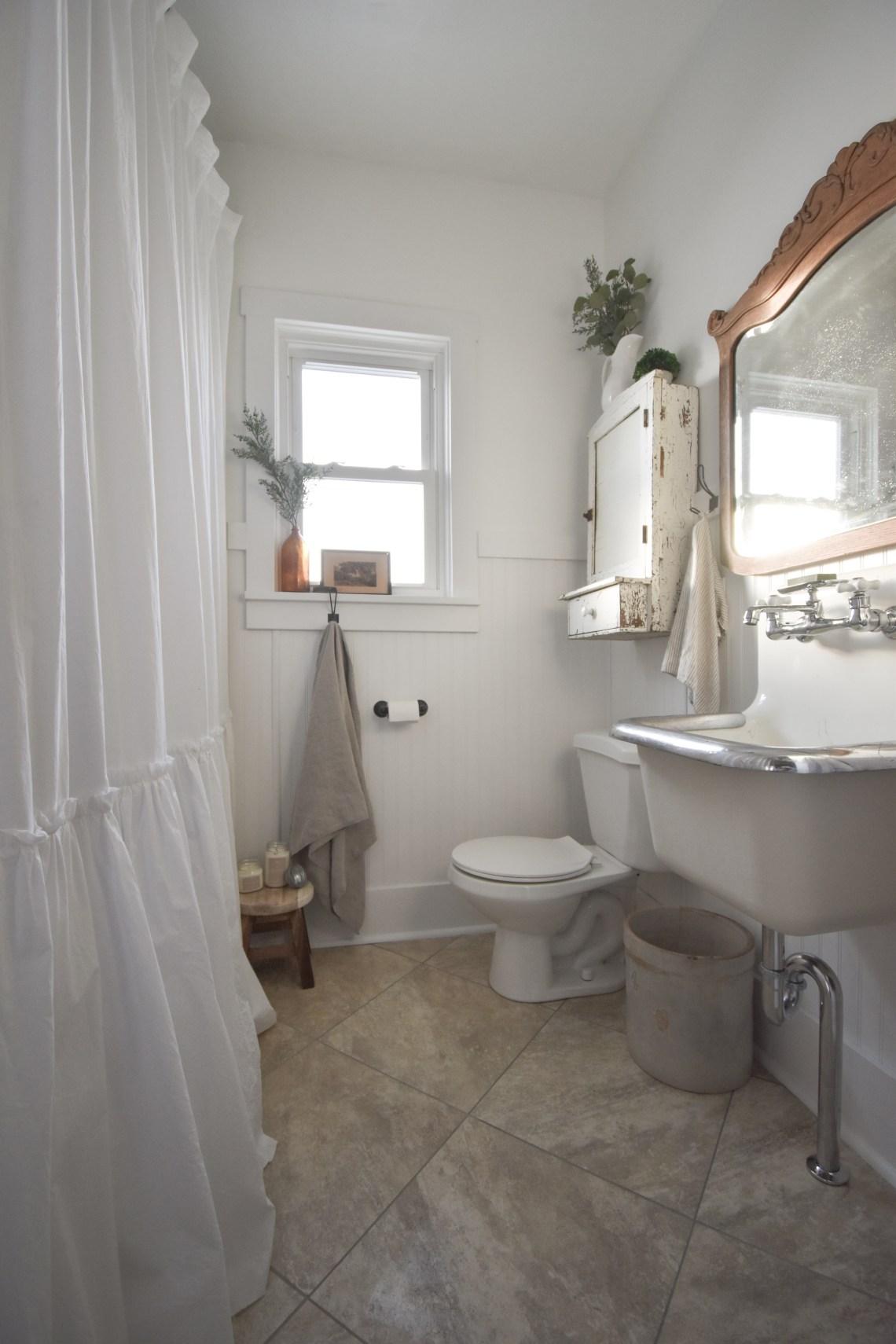Wall Mount Farmhouse Sink Bathroom Renovation