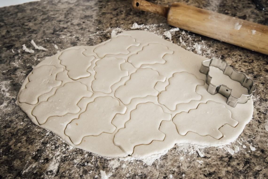 Sheep Salt Dough Ornaments