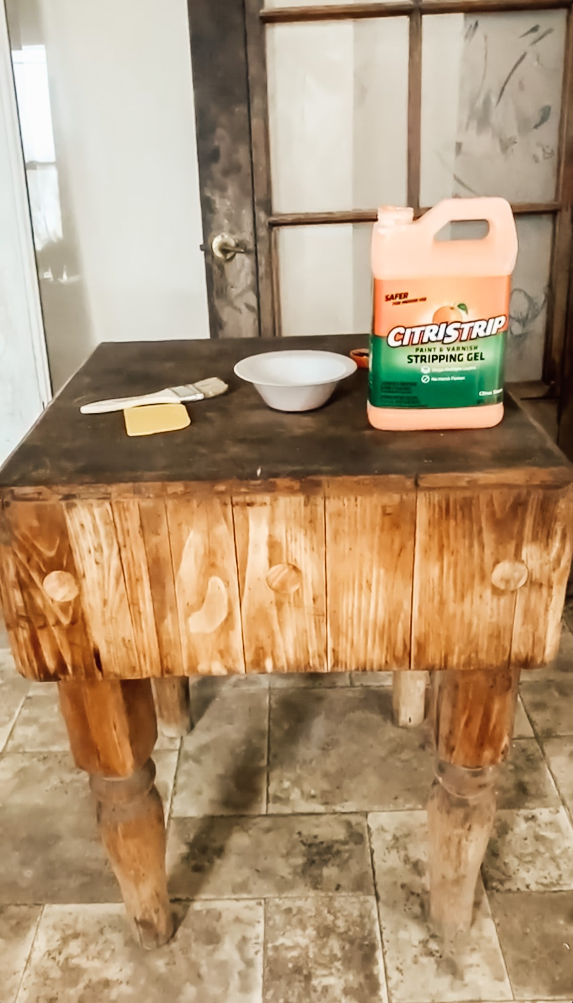 Stripping a Vintage Butcher Block