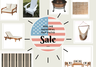 Online Memorial Day Patio Sale 2020