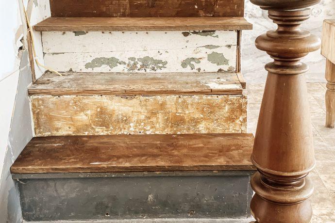 DIY Farmhouse Staircase Renovation