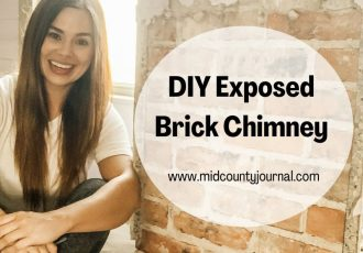 DIY Exposed Brick Chimney
