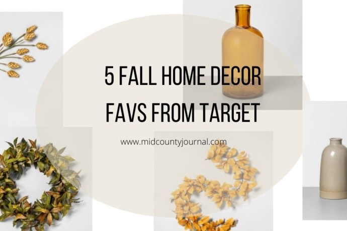 5 Fall Home Decor Favs From Target