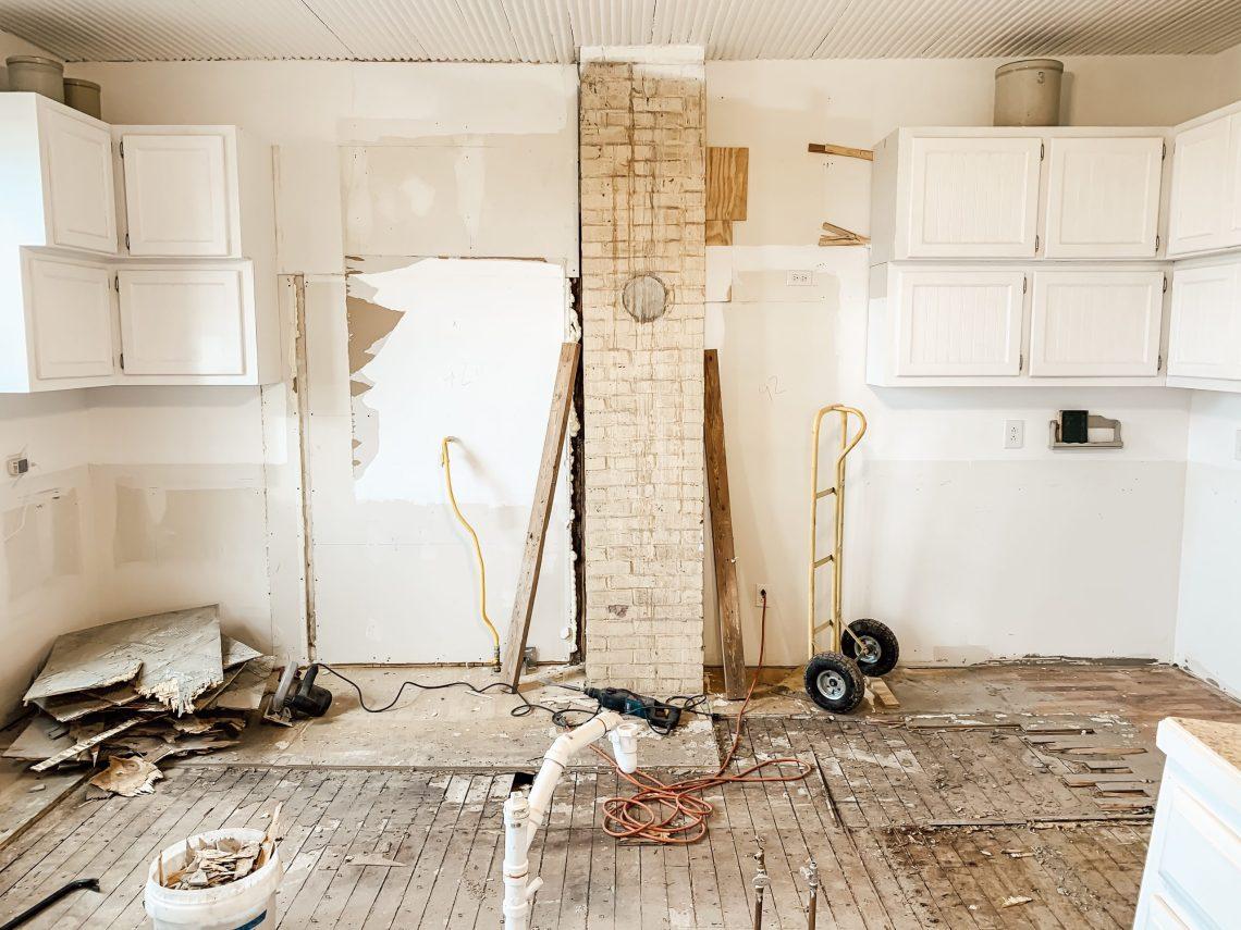 DIY Kitchen Floor Removal