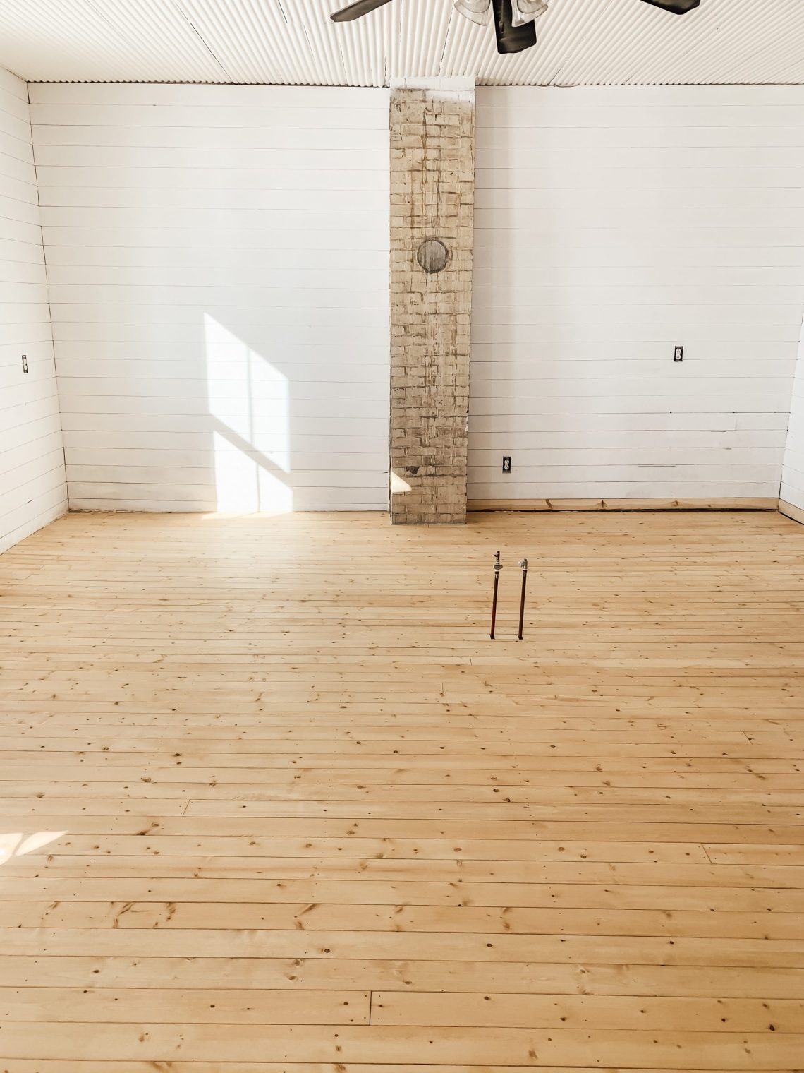 How I Stained Our Wood Floors with Coffee