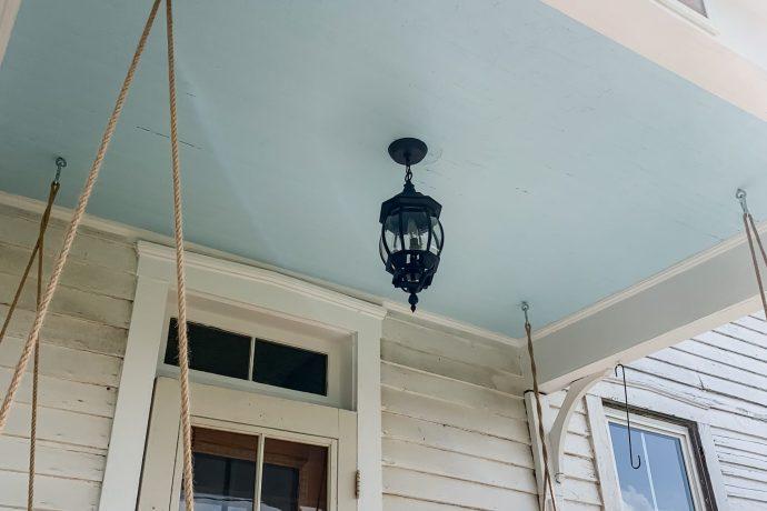 Painting Our Farmhouse Porch Ceiling Haint Blue