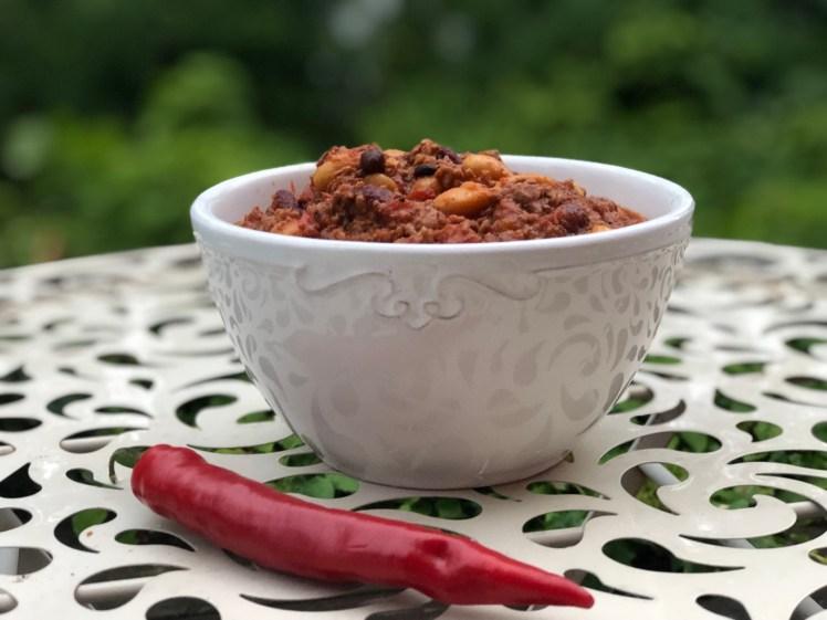 Chili con carne med spiskummin, köttfärs och bönor
