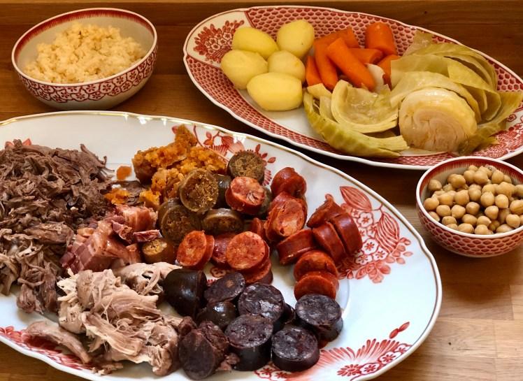 Cozido à portuguesa recept chouriço chorizo korv vitkål kött