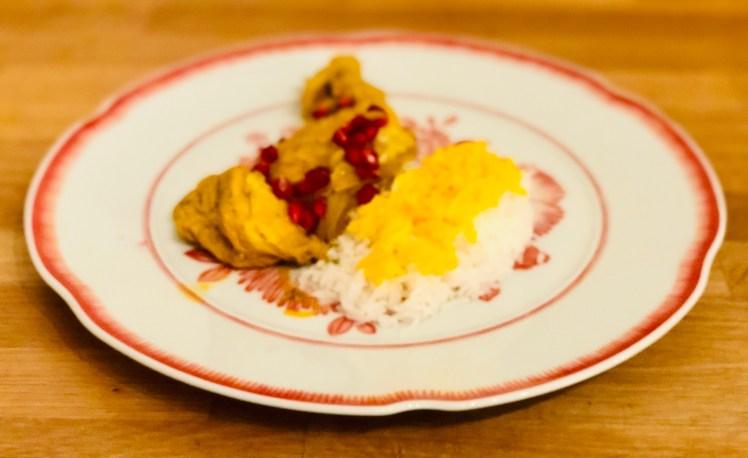 Persisk kyckling saffran ris recept