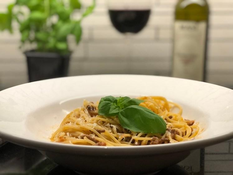 Recept pasta bolognese köttfärssås