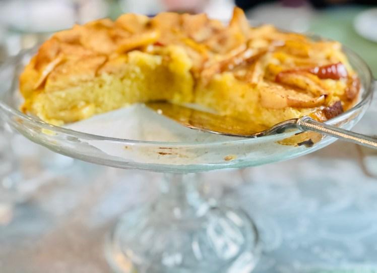 Äppelkaka vit choklad kladdkaka med äpple