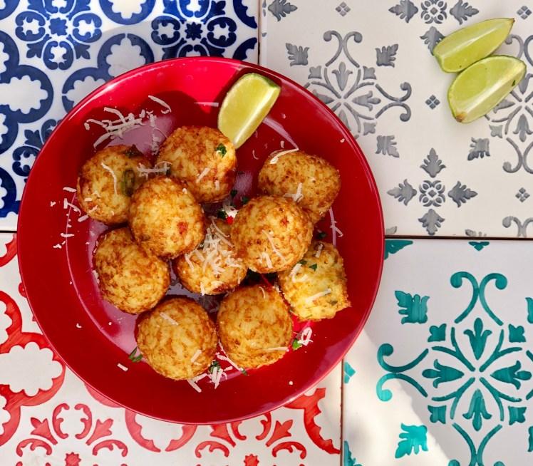 Friterade Brasilianska risbollar recept