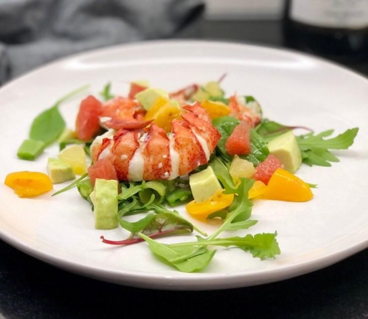 Hummer sallad avokado grapefrukt recept