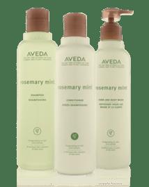1. Aveda rosemary mint shampoo and conditioner