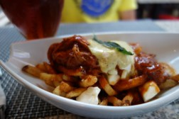 Heart attack central: pulled pork poutine. Mmm.