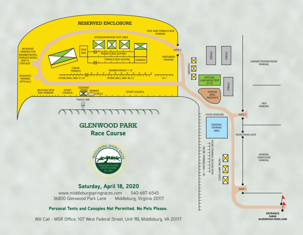 Middleburg Spring Races Course Map 2019