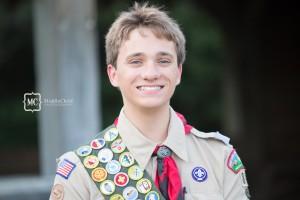 male senior portrait photo