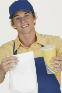 Fast Food Restaurant Employee --- Image by © Royalty-Free/Corbis