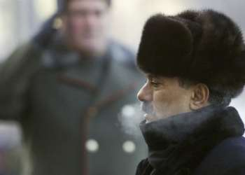 Ali Abdullah Saleh pictured during a wreath-laying ceremony in Moscow in 2002. Photograph: Yuri Kadobnov/AP