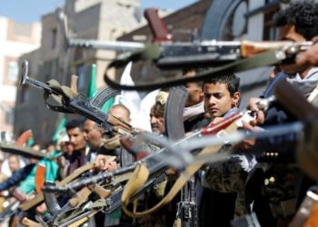 Houthi supporters marked the birthday of the Prophet Mohammed in Sanaa on Thursday