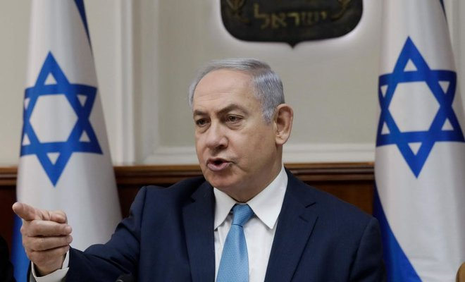 Israeli Prime Minister Benjamin Netanyahu speaks during a cabinet meeting in Jerusalem on Jan. 3 /AFP